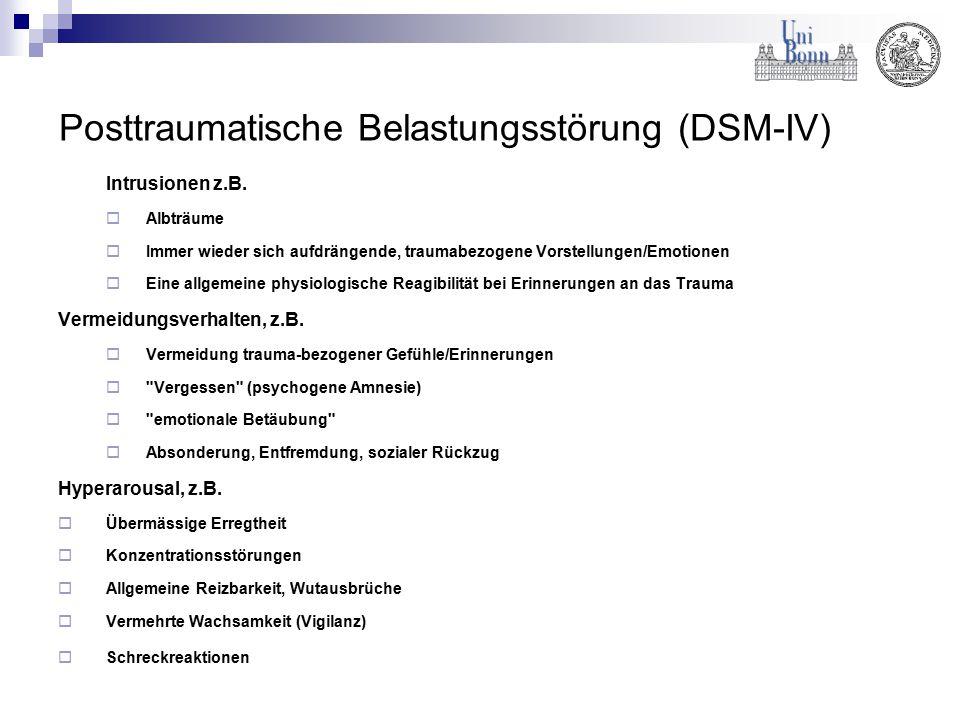 Posttraumatische Belastungsstörung (DSM-IV)