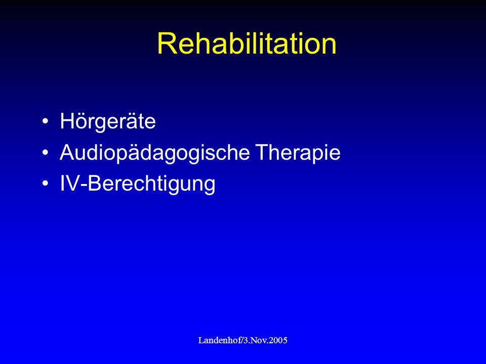 Rehabilitation Hörgeräte Audiopädagogische Therapie IV-Berechtigung
