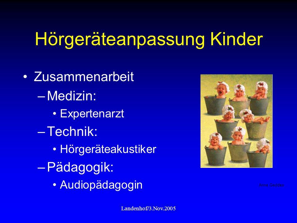 Hörgeräteanpassung Kinder