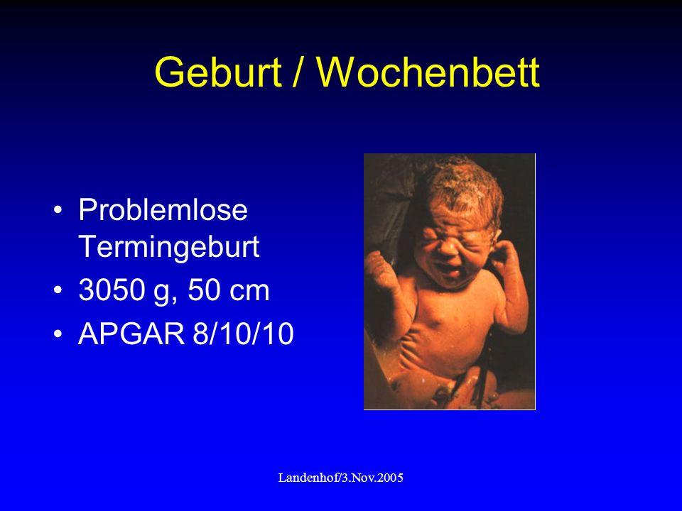 Geburt / Wochenbett Problemlose Termingeburt 3050 g, 50 cm