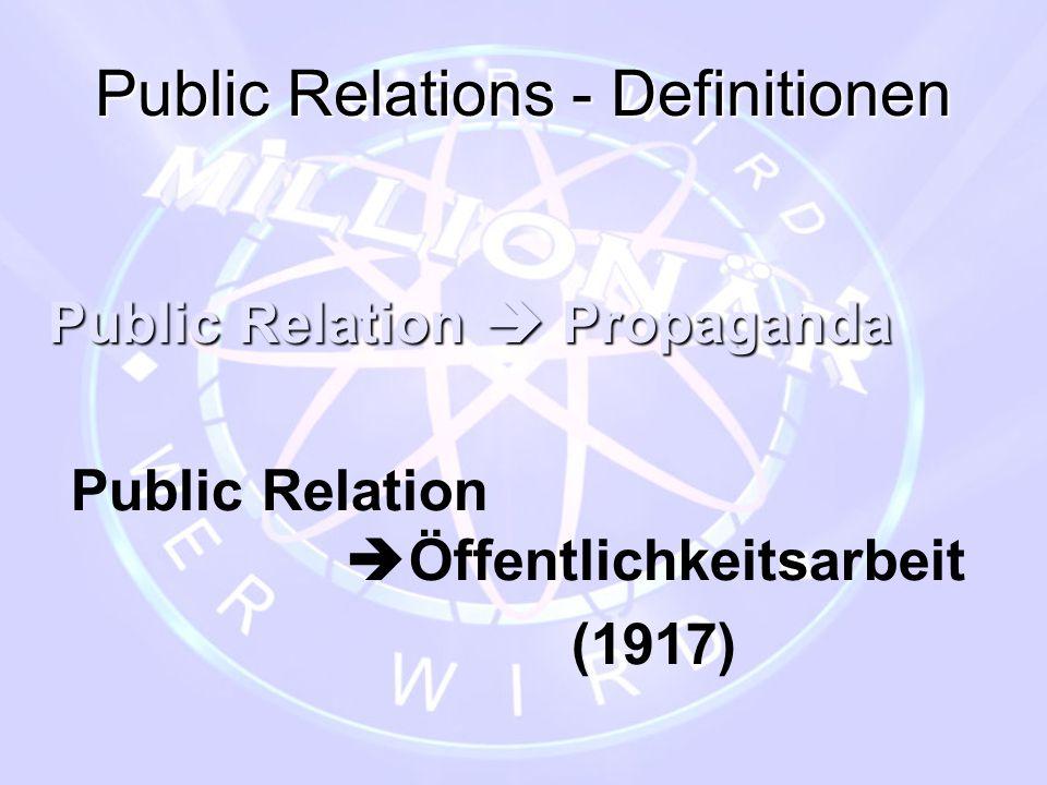 Public Relations - Definitionen