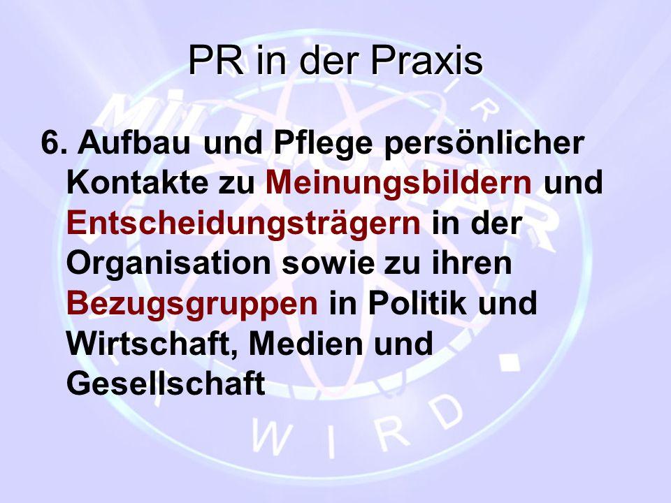 PR in der Praxis
