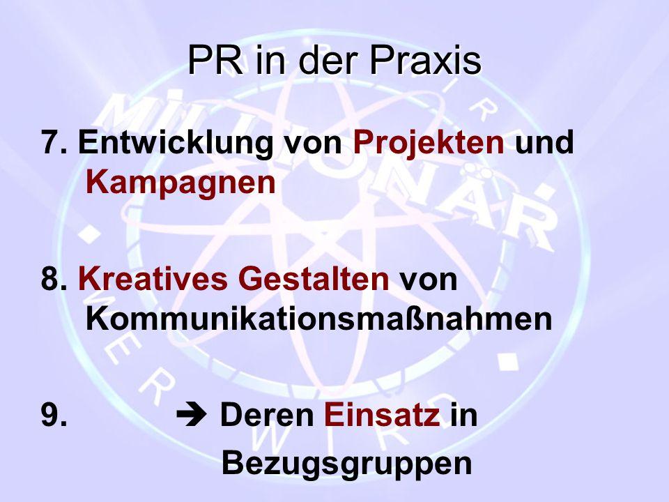 PR in der Praxis 7. Entwicklung von Projekten und Kampagnen