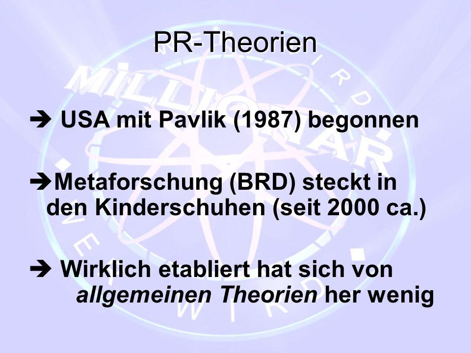 PR-Theorien  USA mit Pavlik (1987) begonnen