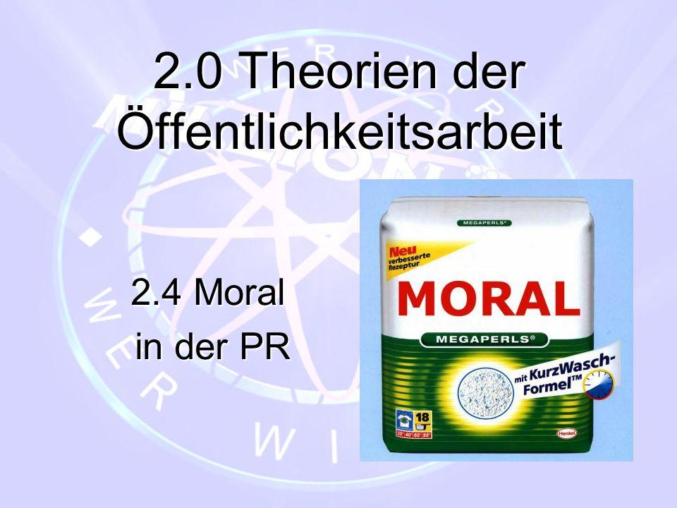 2.0 Theorien der Öffentlichkeitsarbeit
