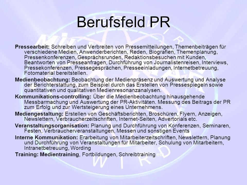 Berufsfeld PR