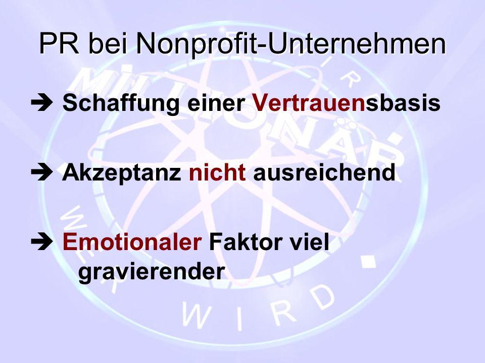 PR bei Nonprofit-Unternehmen