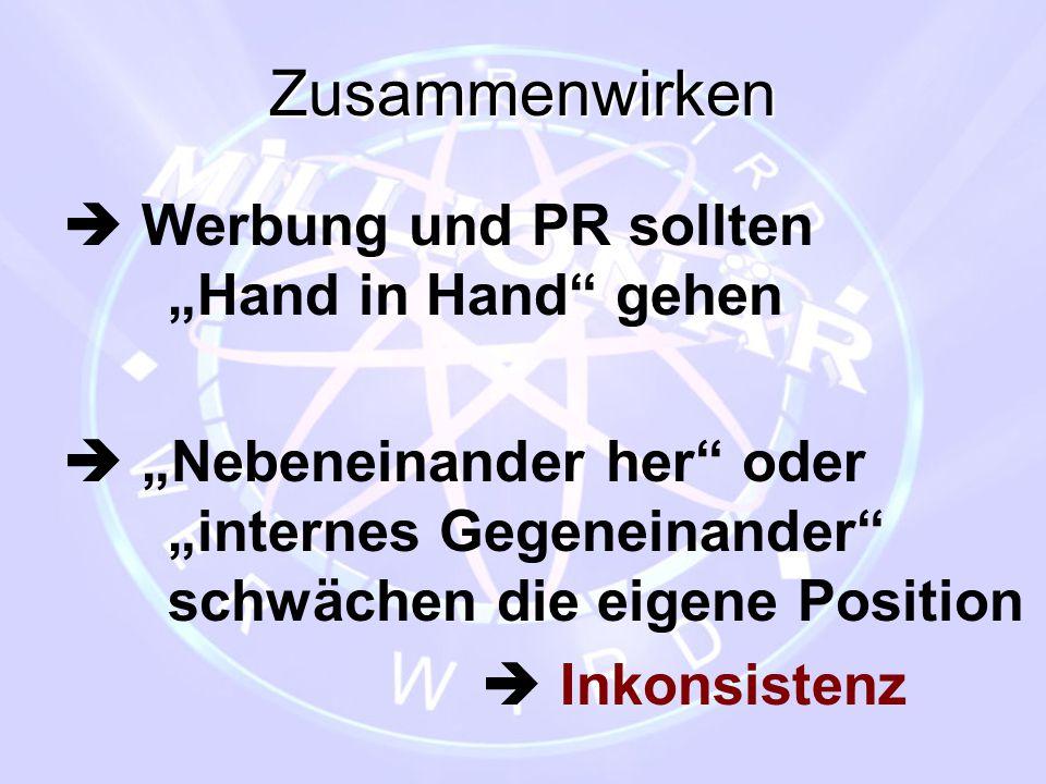 """Zusammenwirken  Werbung und PR sollten """"Hand in Hand gehen"""