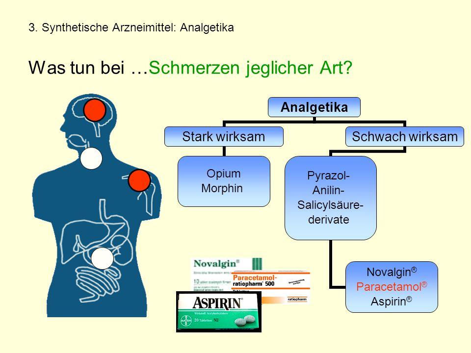3. Synthetische Arzneimittel: Analgetika Was tun bei …Schmerzen jeglicher Art