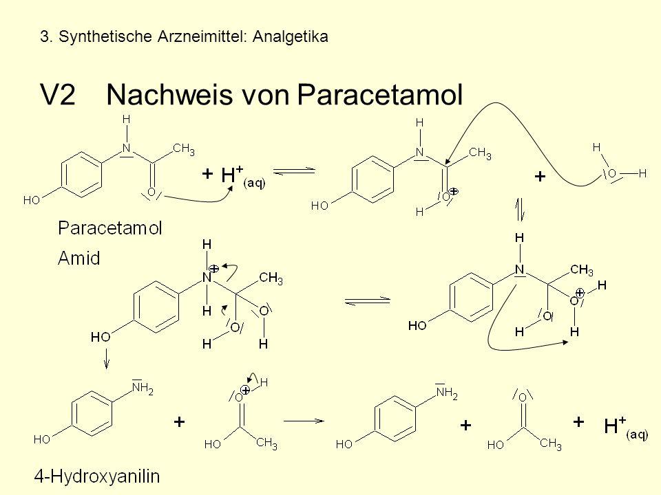 3. Synthetische Arzneimittel: Analgetika V2 Nachweis von Paracetamol