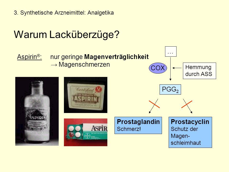 3. Synthetische Arzneimittel: Analgetika Warum Lacküberzüge
