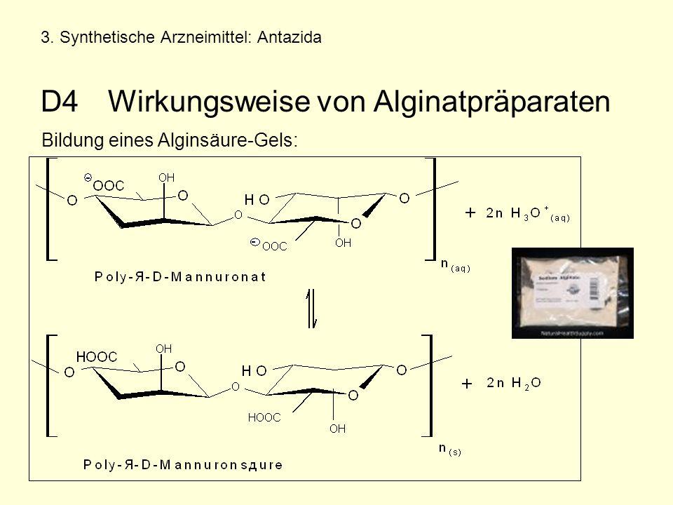 Bildung eines Alginsäure-Gels:
