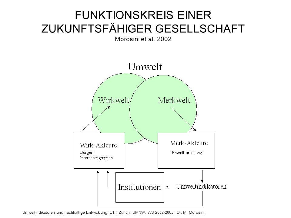 FUNKTIONSKREIS EINER ZUKUNFTSFÄHIGER GESELLSCHAFT Morosini et al. 2002