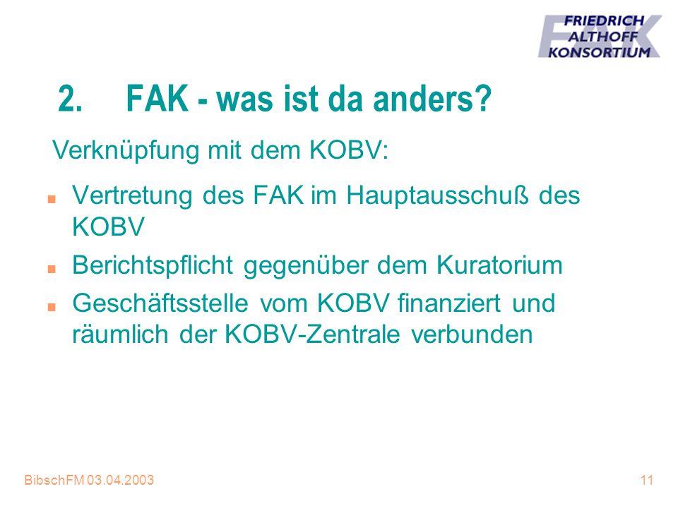 2. FAK - was ist da anders Verknüpfung mit dem KOBV: