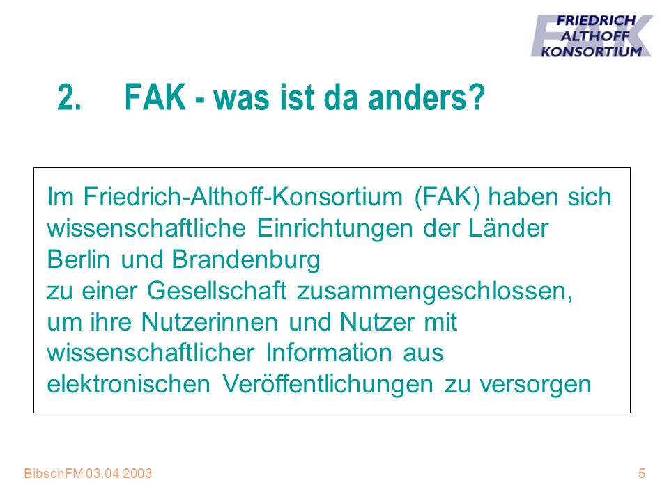 16.04.2017 2. FAK - was ist da anders