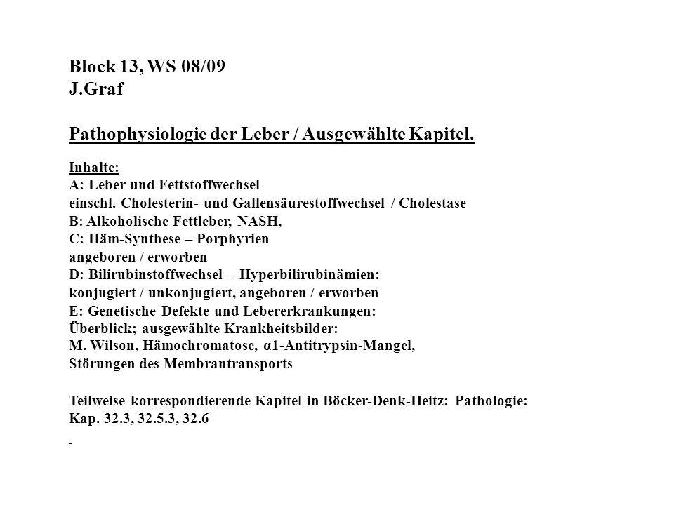 Pathophysiologie der Leber / Ausgewählte Kapitel.