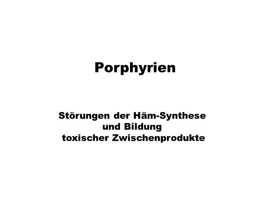 Porphyrien Störungen der Häm-Synthese und Bildung