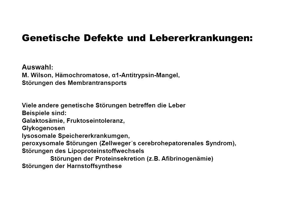 Genetische Defekte und Lebererkrankungen:
