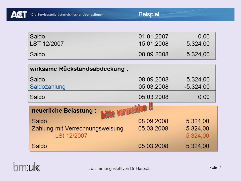 wirksame Rückstandsabdeckung : Saldo 08.09.2008 5.324,00