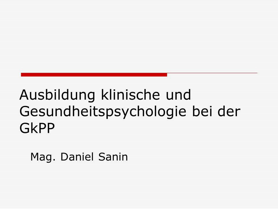 Ausbildung klinische und Gesundheitspsychologie bei der GkPP