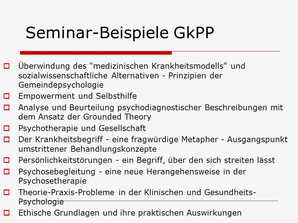 Seminar-Beispiele GkPP