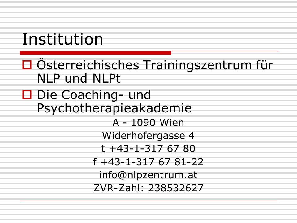 Institution Österreichisches Trainingszentrum für NLP und NLPt