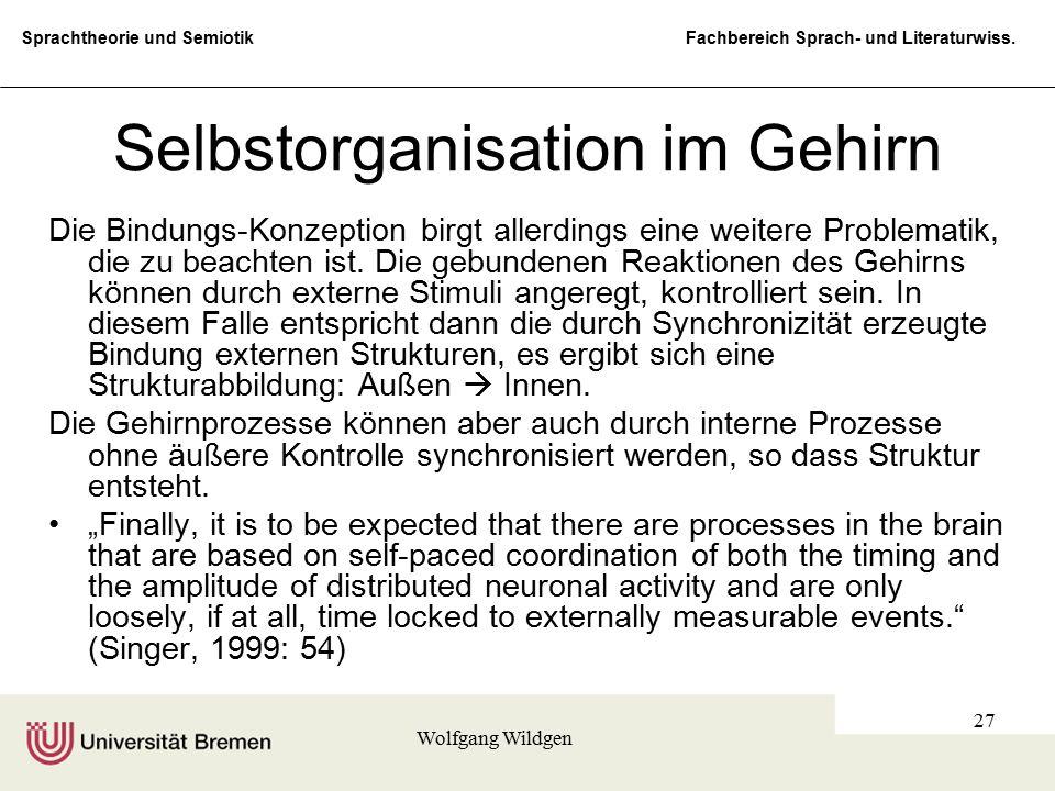 Selbstorganisation im Gehirn