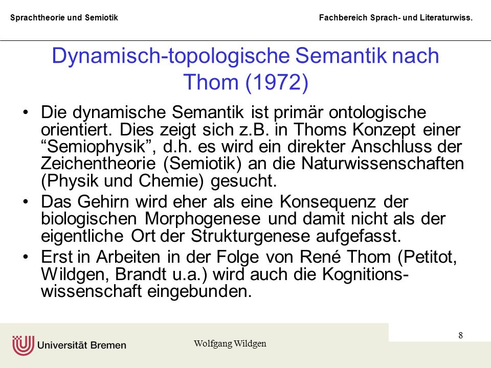 Dynamisch-topologische Semantik nach Thom (1972)