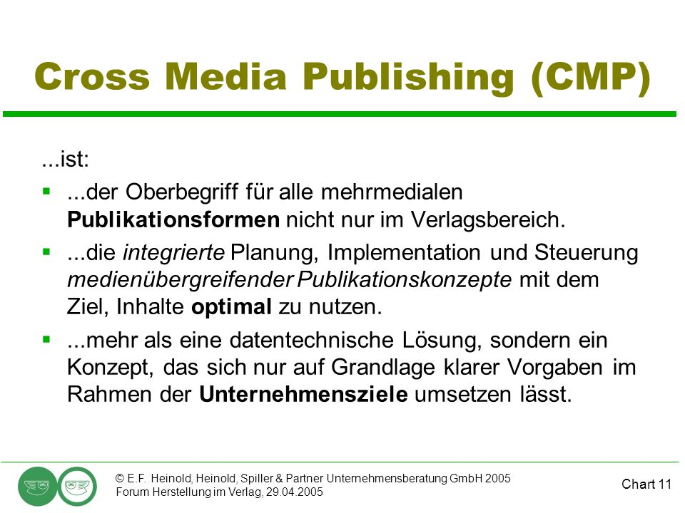 Cross Media Publishing (CMP)