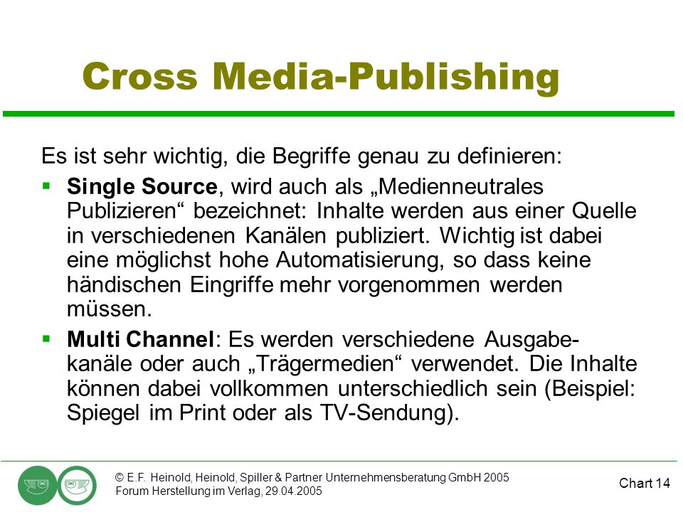 Cross Media-Publishing