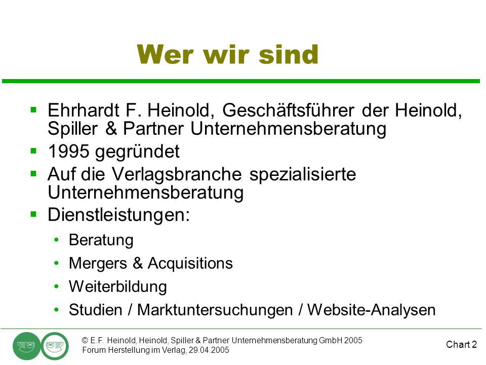 Wer wir sind Ehrhardt F. Heinold, Geschäftsführer der Heinold, Spiller & Partner Unternehmensberatung.