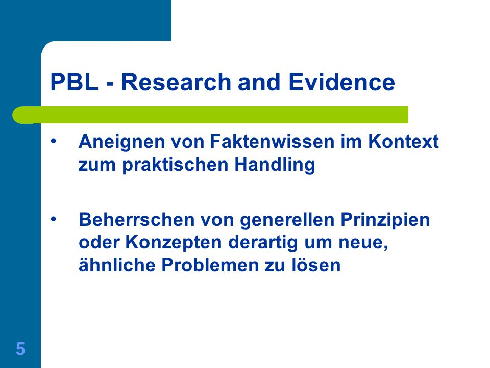 PBL - Research and Evidence