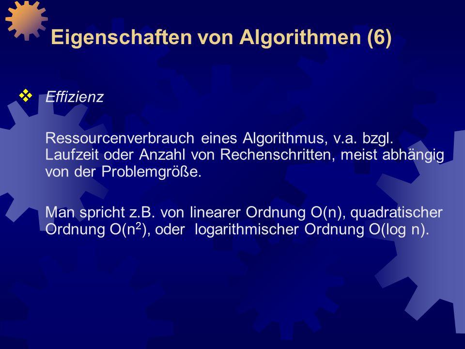 Eigenschaften von Algorithmen (6)