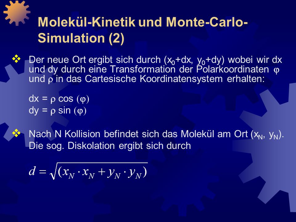 Molekül-Kinetik und Monte-Carlo-Simulation (2)