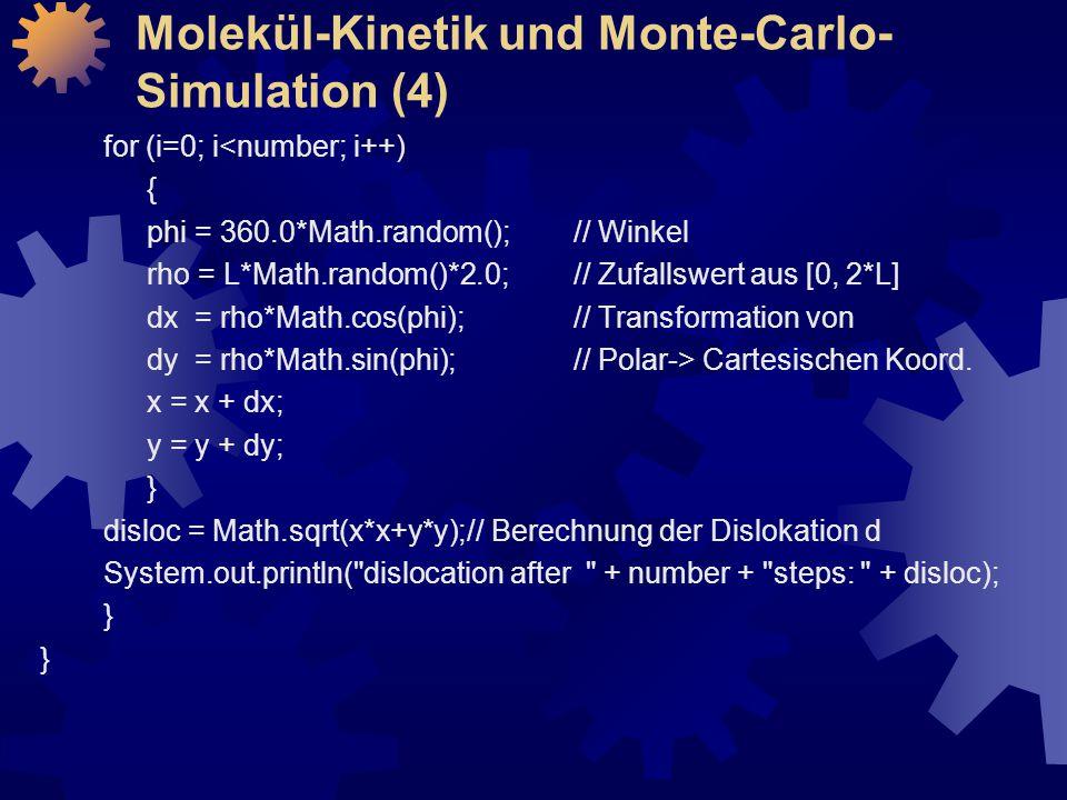 Molekül-Kinetik und Monte-Carlo-Simulation (4)