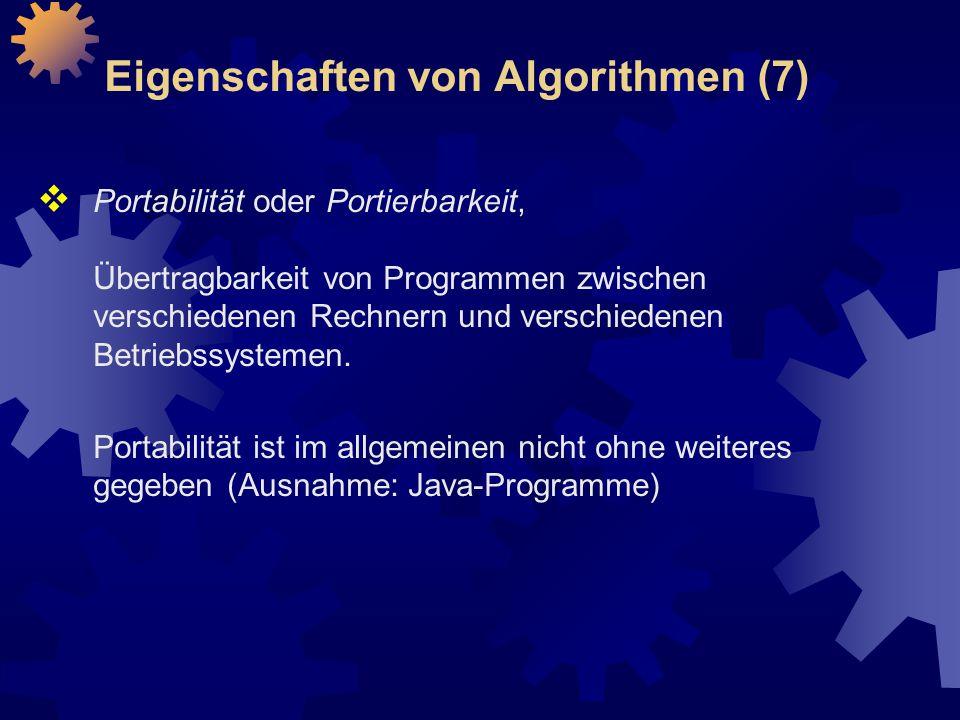 Eigenschaften von Algorithmen (7)