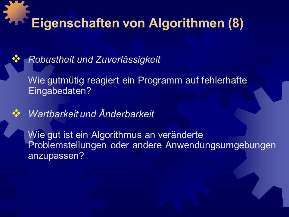 Eigenschaften von Algorithmen (8)