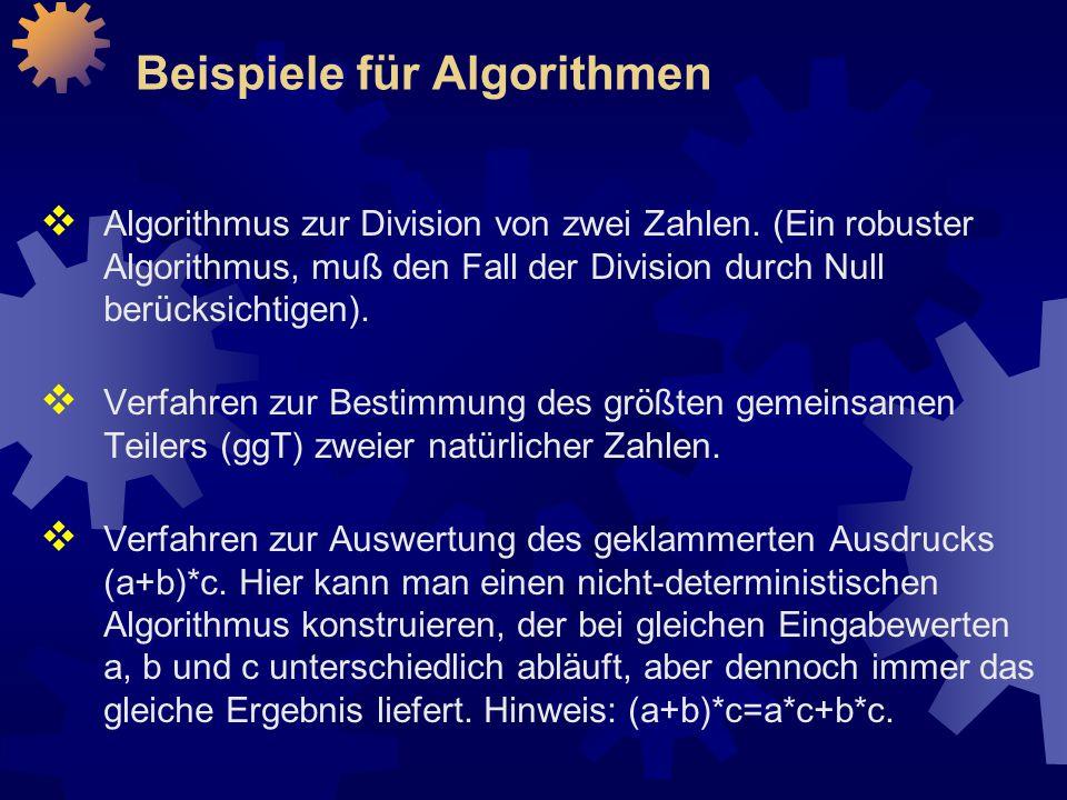 Beispiele für Algorithmen
