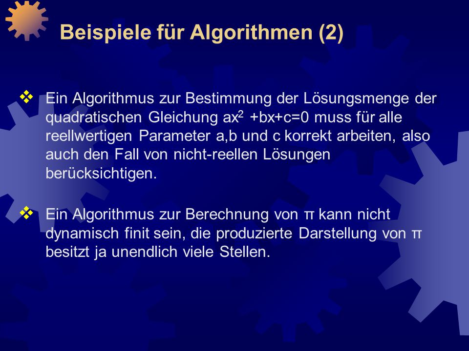 Beispiele für Algorithmen (2)