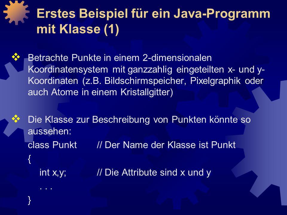 Erstes Beispiel für ein Java-Programm mit Klasse (1)