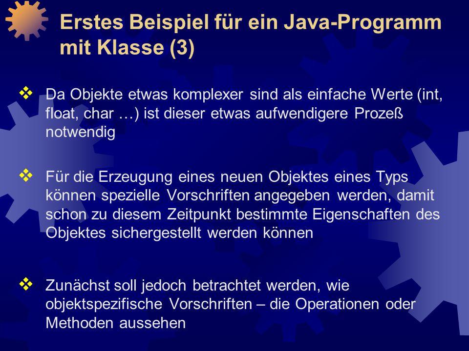 Erstes Beispiel für ein Java-Programm mit Klasse (3)