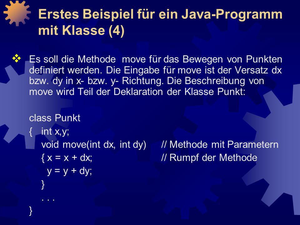 Erstes Beispiel für ein Java-Programm mit Klasse (4)