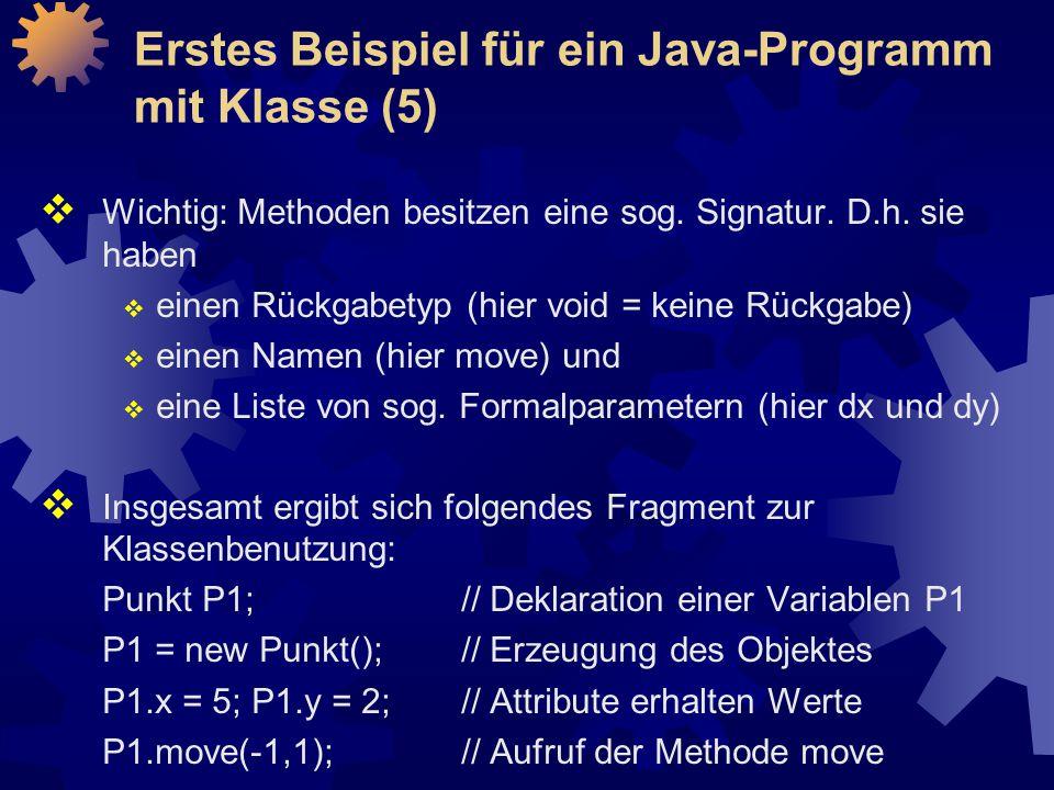 Erstes Beispiel für ein Java-Programm mit Klasse (5)