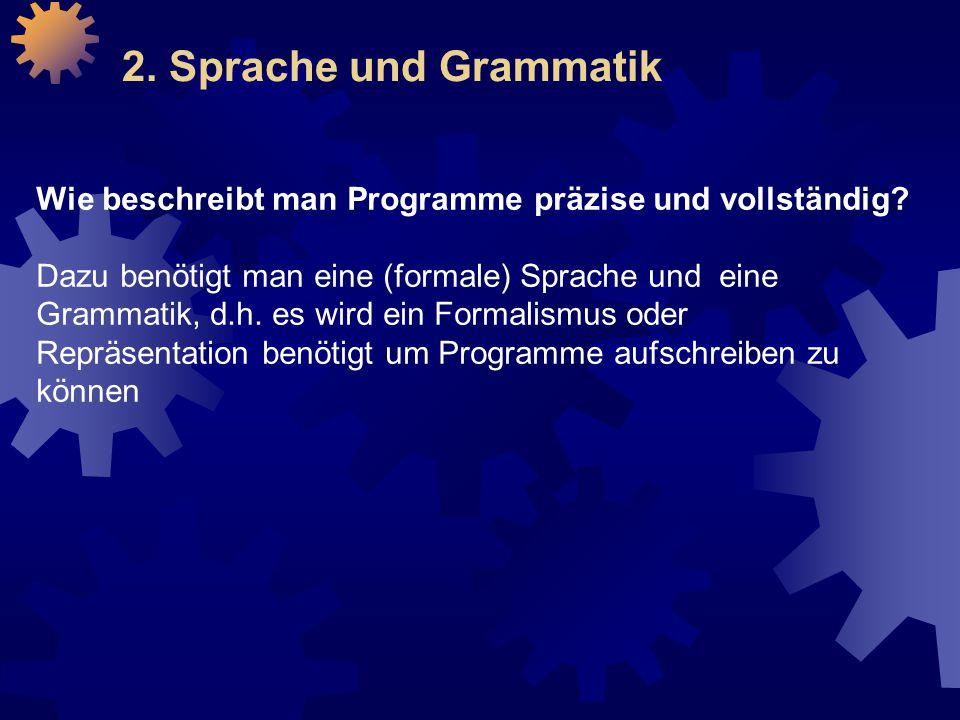 2. Sprache und Grammatik