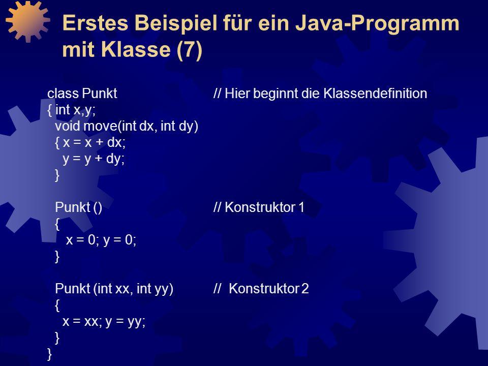 Erstes Beispiel für ein Java-Programm mit Klasse (7)