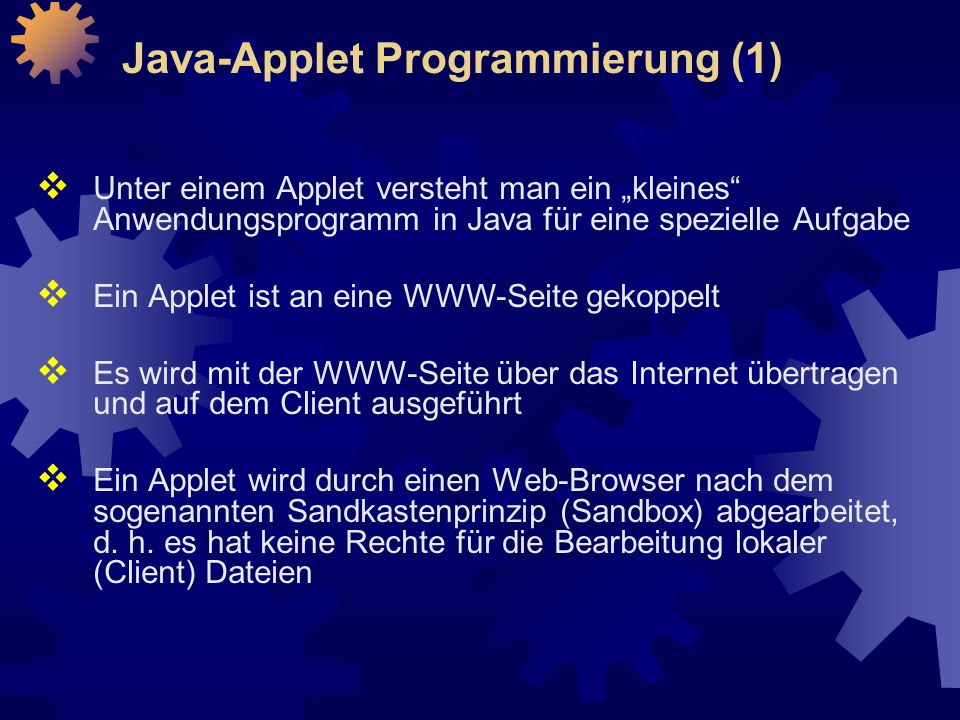 Java-Applet Programmierung (1)