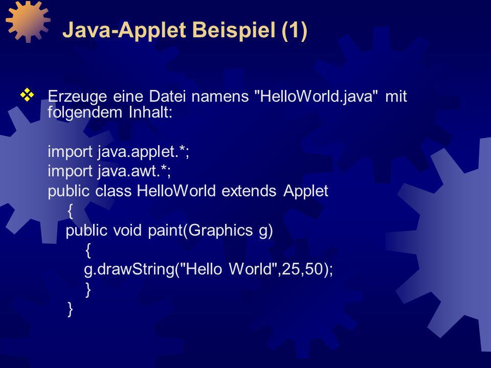 Java-Applet Beispiel (1)