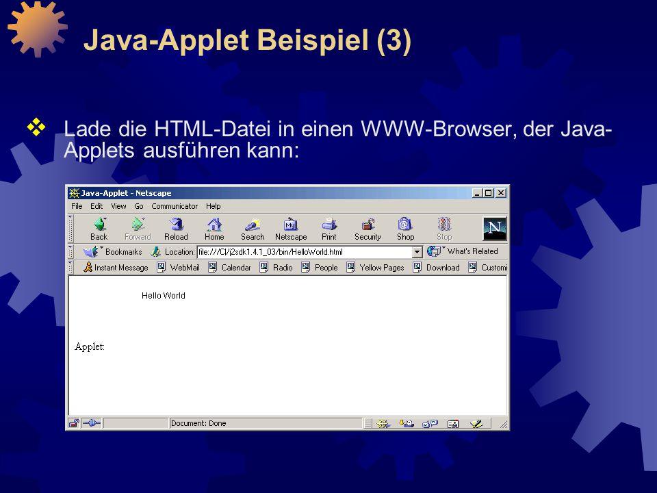 Java-Applet Beispiel (3)