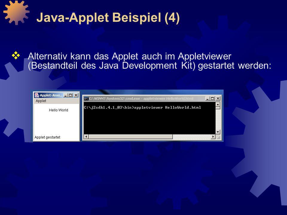Java-Applet Beispiel (4)