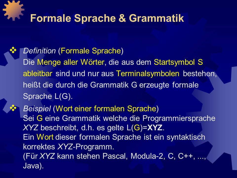 Formale Sprache & Grammatik
